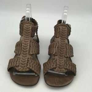All Saints Brown Gladiators Sandals Size 7/37